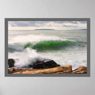 Poster Grand parc national se brisant d'Acadia de paysage