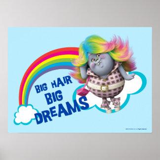 Poster Grands cheveux des trolls |, grands rêves 2