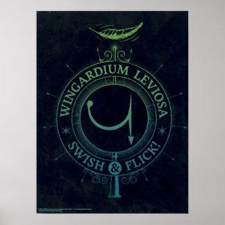 Poster Graphique du charme | Wingardium Leviosa de Harry