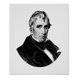 Poster Graphique du Président William Henry Harrison