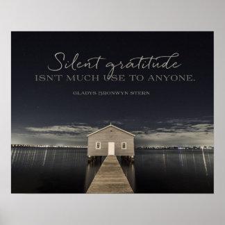 Poster Gratitude silencieuse