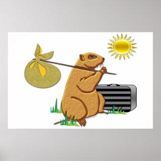 Poster Groundhog fonctionne loin
