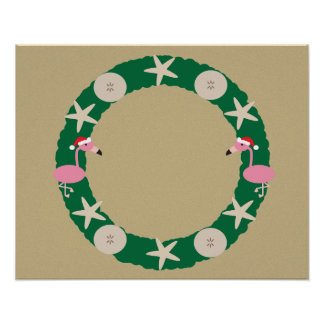 Poster Guirlande de plage de Noël