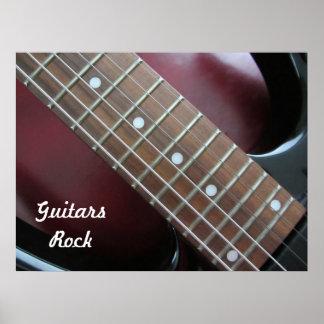 Poster Guitare électrique de roche de guitares