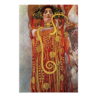 Poster Gustav Klimt - déesse de médecine de Hygieia de