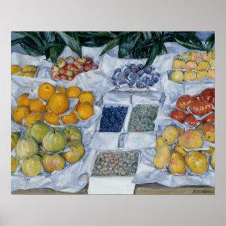 Poster Gustave Caillebotte - fruit montré sur un support