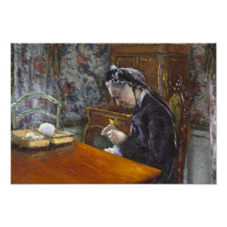 Poster Gustave Caillebotte - Mademoiselle Boissiere