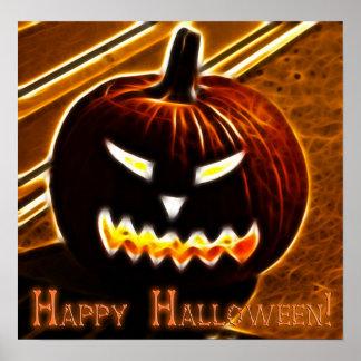 Poster Halloween heureux 2 avec le texte