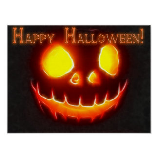 Poster Halloween heureux 4 avec le texte