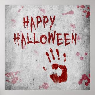 Poster Handprint sanglant Halloween - affiche