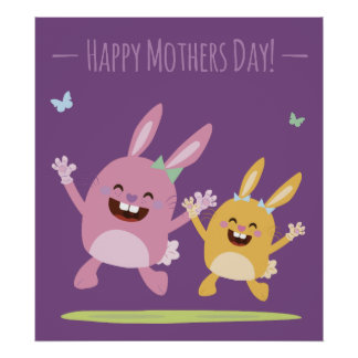Poster Happy Mothers Day affiche