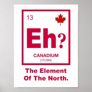 Poster Hein ? Élément canadien du Canada
