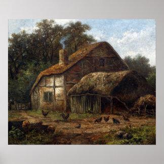 Poster Hendrik Pieter Koekkoek a couvert la grange de