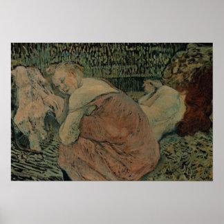 Poster Henri De Toulouse-Lautrec - deux amis