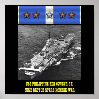 POSTER HET FILIPPIJNSE VAN HET ZEE VAN USS (CV/CVA