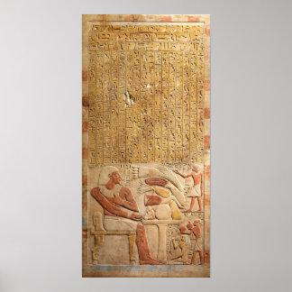 Poster Hiéroglyphes d'Egypte antique de royaume moyen