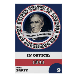 Poster Histoire de William H. Harrison Presidential