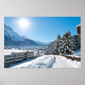 Poster Hiver à St Moritz