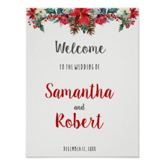 Poster Hiver épousant le signe bienvenu