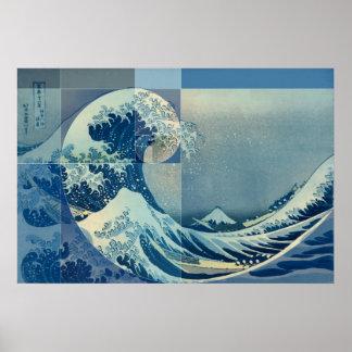 Poster Hokusai rencontre Fibonacci, rapport d'or
