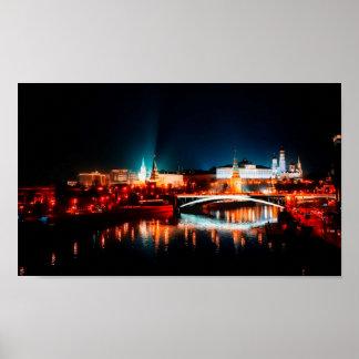 Poster Horizon de nuit de Moscou