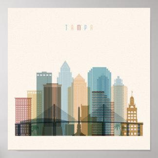 Poster Horizon de ville de Tampa, la Floride |