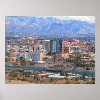 Poster Horizon de ville de Tucson