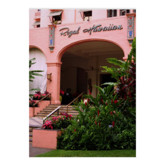 Poster Hôtel hawaïen royal