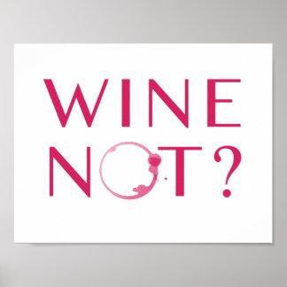 Poster Humour d'amateur de vin du vin non  