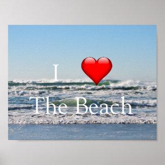 Poster I coeur l'affiche de plage