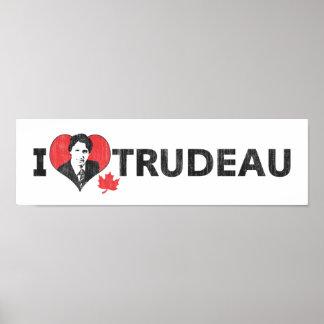 Poster I coeur Trudeau au loin