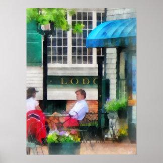 Poster Île de Rhode - café Newport RI
