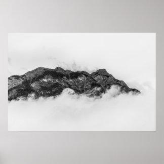 Poster Île sur des nuages