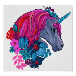 Poster Illustration magique violette mignonne