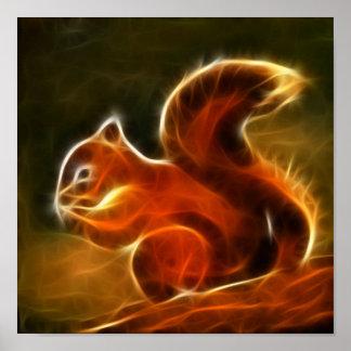Poster Illustration mignonne d'écureuil