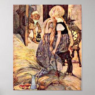 Poster Illustration vintage de Rumpelstiltskin