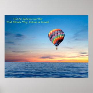 Poster Image chaude de ballon à air pour l'affiche