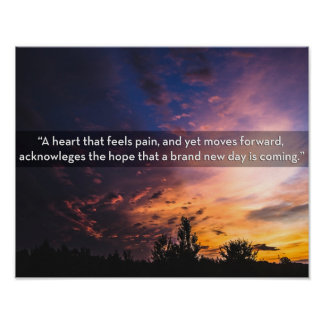 Poster Image de lever de soleil apportant l'espoir après