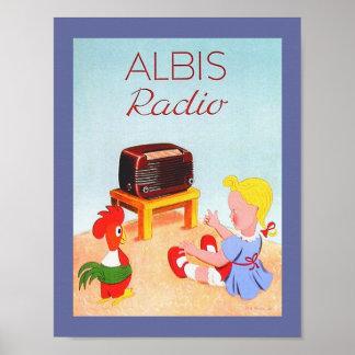Poster Image par radio vintage suisse d'annonce pour des