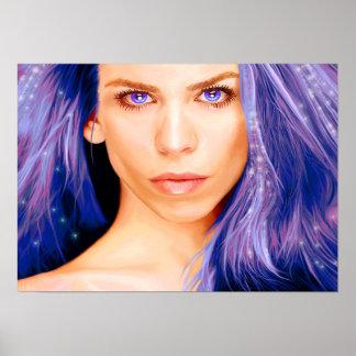 Poster Imaginaire violet