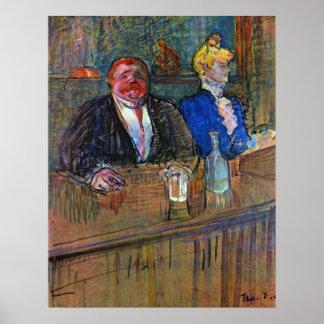 Poster Impressionisme vintage, la barre par Toulouse