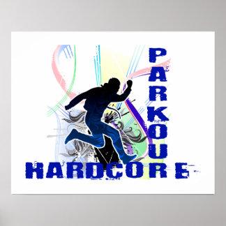 Poster Inconditionnel courant libre de Parkour