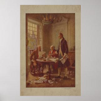 Poster Inscription de la déclaration d'indépendance de