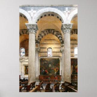 Poster Intérieur de la cathédrale de Pise
