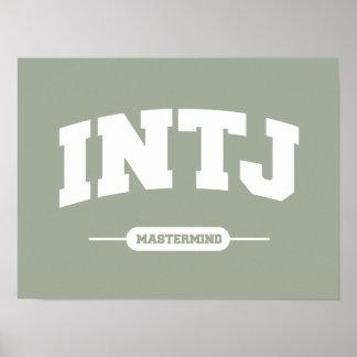 Poster INTJ - Cerveau - style d'université