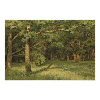 Poster Ivan Shiskin la forêt dégageant CC0350