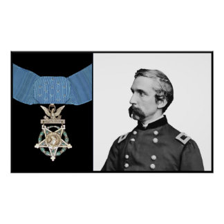 Poster J.L. Chamberlain et la médaille de l'honneur