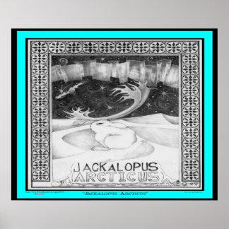Poster Jackalope arctique