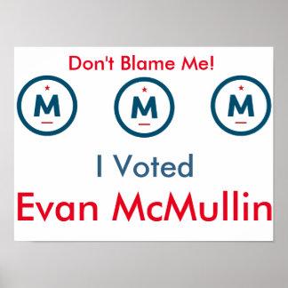 Poster J'ai voté Evan McMullin ! Affiche