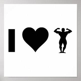 Poster J'aime Bodybuilding